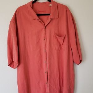Tommy bahama 2XL coral silk button up